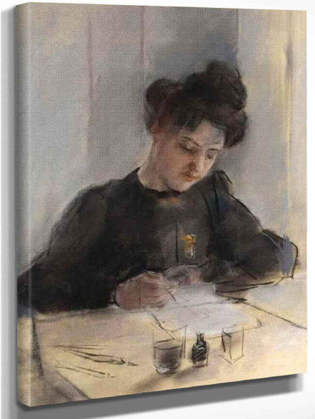 A Girl Sketching By Sir William Orpen By Sir William Orpen