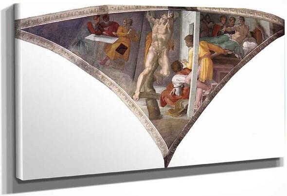 Punishment Of Haman By Michelangelo Buonarroti By Michelangelo Buonarroti