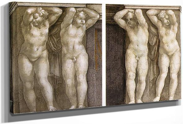 Putti By Michelangelo Buonarroti By Michelangelo Buonarroti