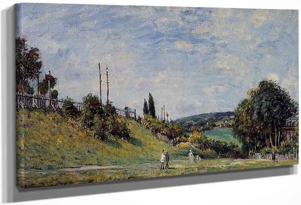 Railroad Embankment At Sevres By Alfred Sisley