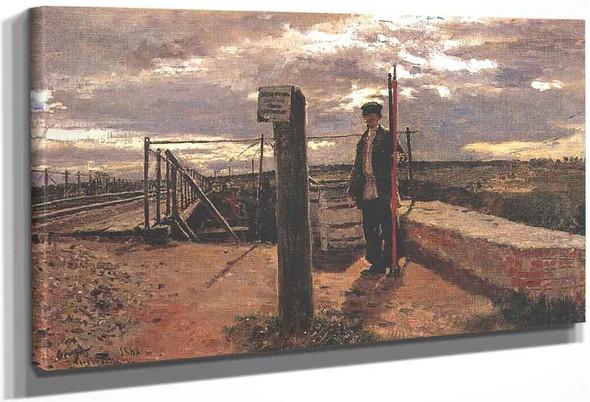 Railway Watchman. By Ilia Efimovich Repin