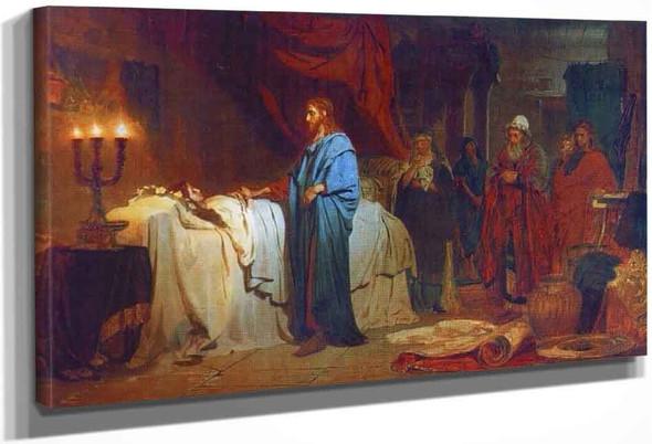 Raising Of Jairus' Daughter. By Ilia Efimovich Repin