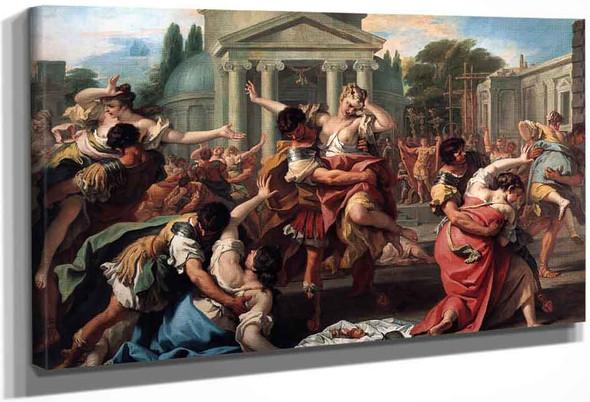 Rape Of The Sabine Women By Sebastiano Ricci