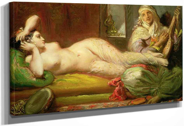 Reclining Odalisque By Theodore Chasseriau
