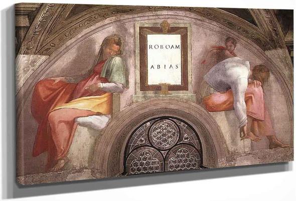 Rehoboam Abijah By Michelangelo Buonarroti By Michelangelo Buonarroti
