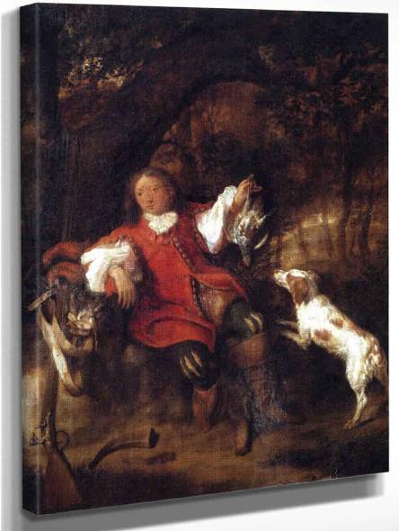 A Hunter Showing His Prey By Gabriel Metsu