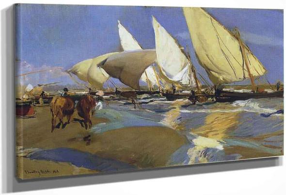 Return From Fishing By Joaquin Sorolla Y Bastida