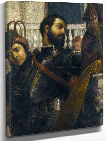 A Knight And His Page  By Paolo Veronese