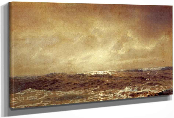 Rocks And Sea By William Trost Richards By William Trost Richards