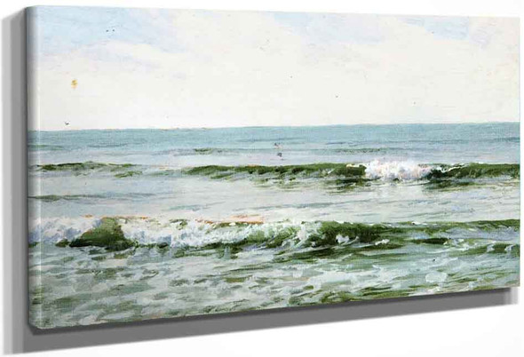 Rolling Surf By William Trost Richards By William Trost Richards