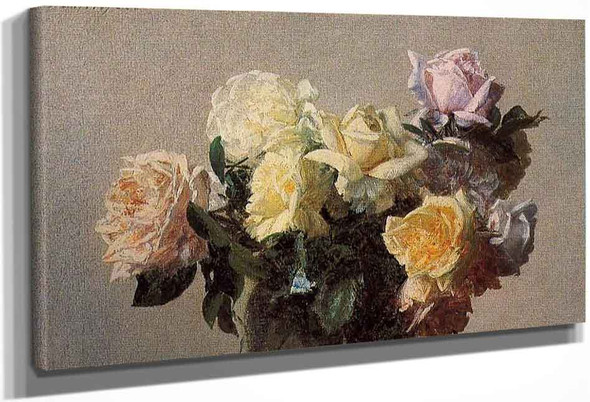 Roses14 By Henri Fantin Latour By Henri Fantin Latour
