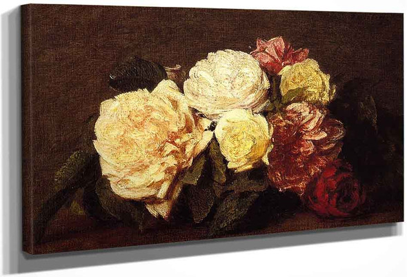 Roses By Henri Fantin Latour By Henri Fantin Latour