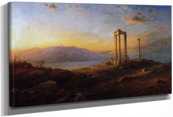 Ruins At Baalbek By Frederic Edwin Church By Frederic Edwin Church