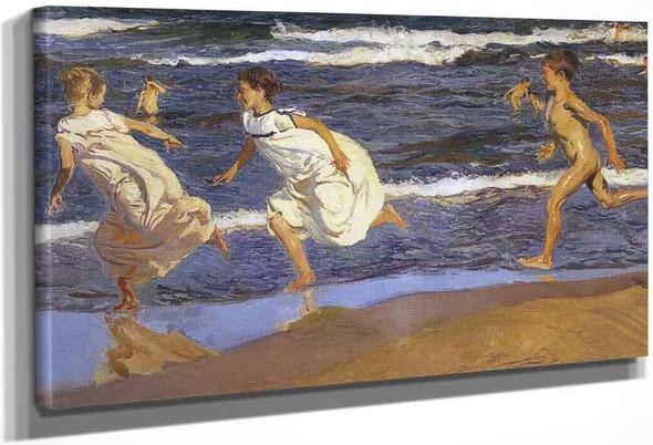 Running Along The Beach By Joaquin Sorolla Y Bastida