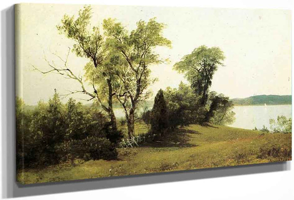 Sailing On The Hudson By Albert Bierstadt