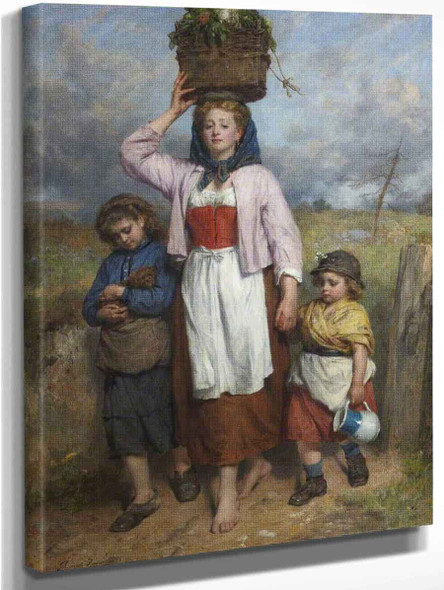 A Lowland Lassie By Thomas Faed Ra Hrsa