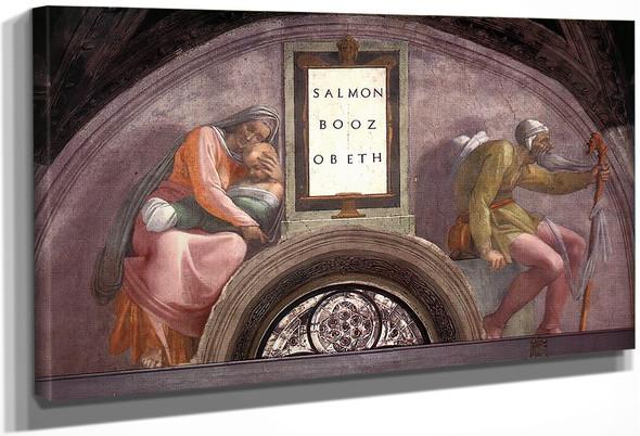 Salmon Boaz Obed By Michelangelo Buonarroti By Michelangelo Buonarroti