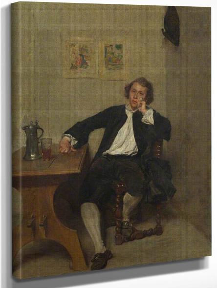 A Man In Black Smoking A Pipe By Jean Louis Ernest Meissonier