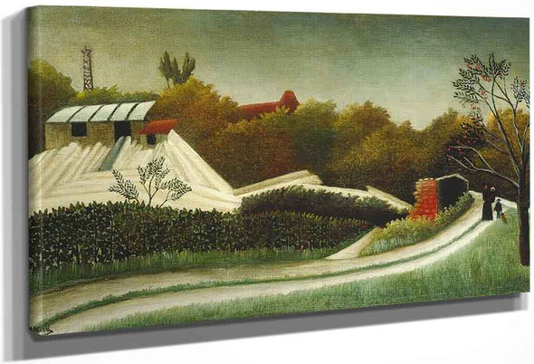 Sawmill On The Outskirts Of Paris By Henri Rousseau