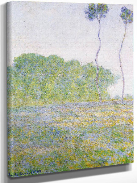 A Meadow At Giverny By Claude Oscar Monet