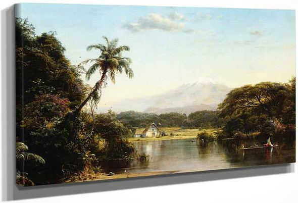 Scene On The Magdalena By Frederic Edwin Church By Frederic Edwin Church
