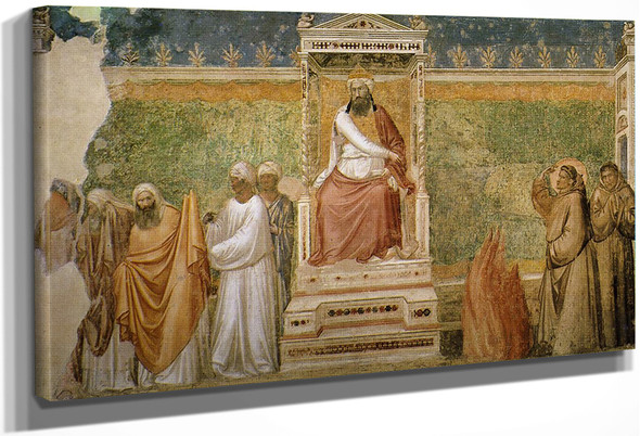 Scenes From The Life Of Saint Francis 6. St Francis Before The Sultan  By Giotto Di Bondone