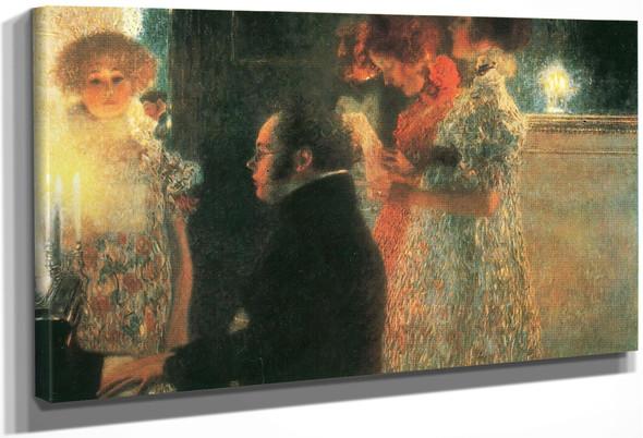 Schubert At The Piano Ii By Gustav Klimt