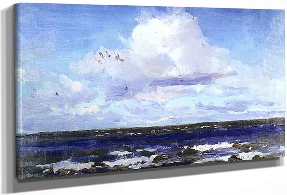 Sea Landscape In Palanga By Leon Jan Wyczolkowski