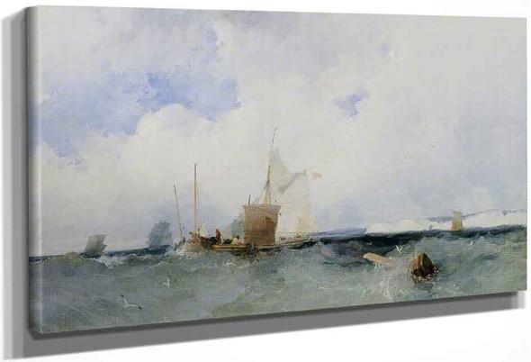 Sea Piece By Richard Parkes Bonington