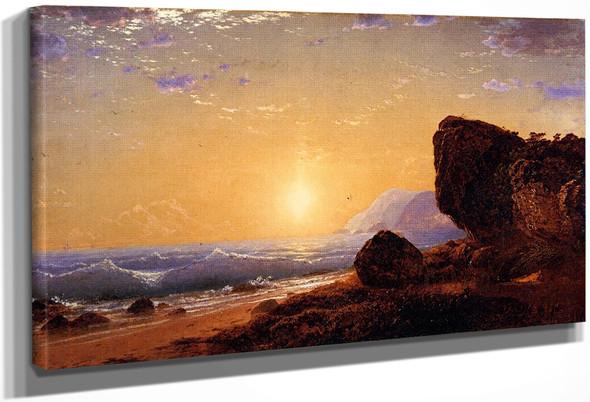 Seashore By John Frederick Kensett By John Frederick Kensett