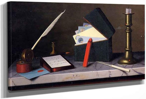 Secretary's Table By William Michael Harnett By William Michael Harnett
