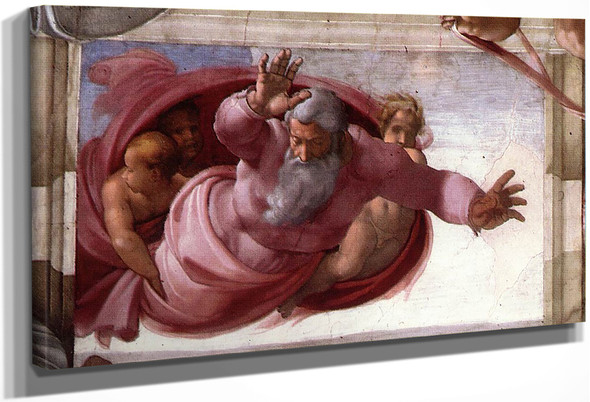 Separation Of The Earth From The Waters By Michelangelo Buonarroti By Michelangelo Buonarroti
