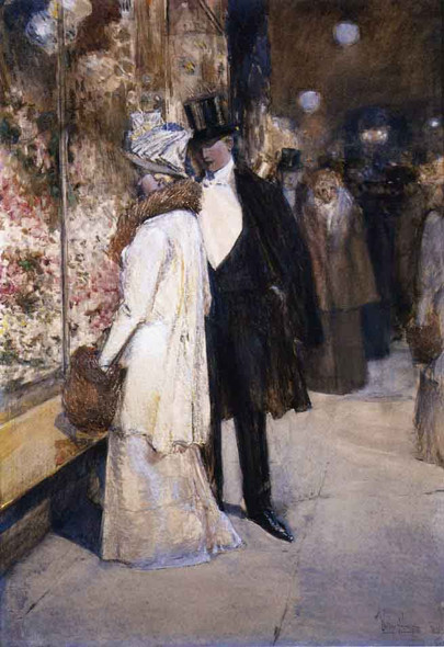 A New Year's Nocturne, New York By Frederick Childe Hassam