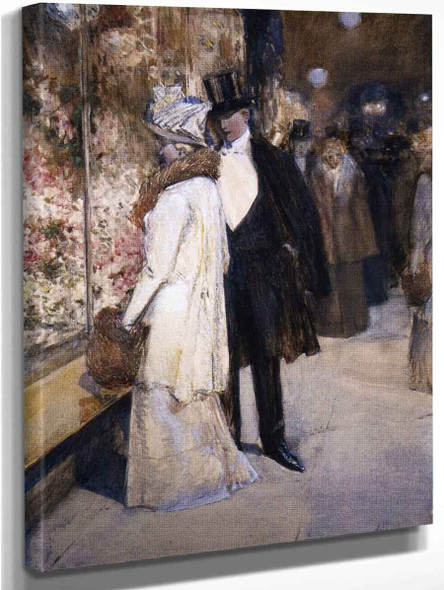 A New Year's Nocturne, New York By Frederick Childe Hassam Art Reproduction