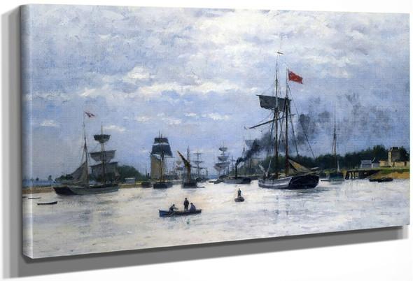 Ships In Port By Stanislas Lepine