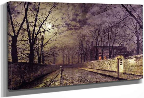 Silver Moonlight By John Atkinson Grimshaw By John Atkinson Grimshaw