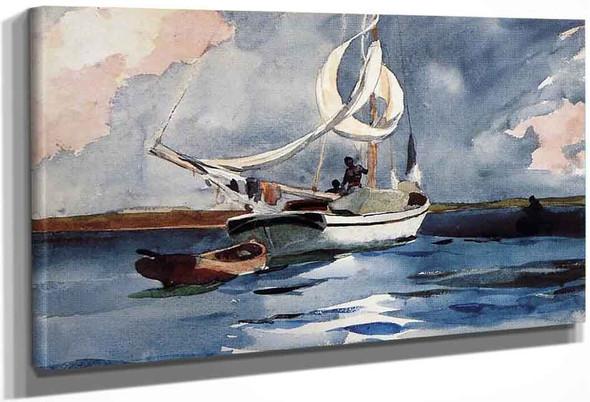 Sloop, Nassau By Winslow Homer