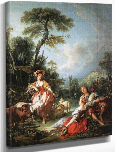 A Pastoral Summer By Francois Boucher