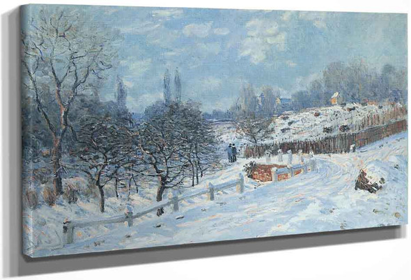Snow At Louveciennes 33 By Alfred Sisley