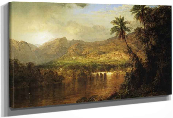South American Landscape By Frederic Edwin Church By Frederic Edwin Church