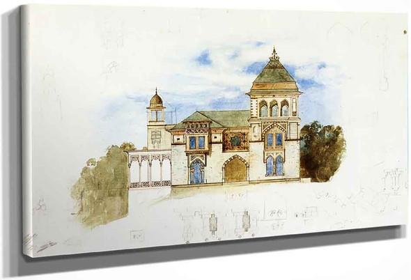 Southwest Facade, Olana By Frederic Edwin Church By Frederic Edwin Church