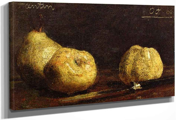 Still Life, A Pear And Two Potatoes By Henri Fantin Latour By Henri Fantin Latour