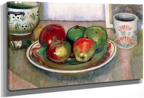 Still Life, Breton Earthenware And Apples By Maurice Denis
