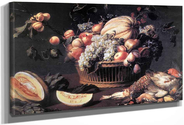 Still Life With Basket Of Fruit And Dead Birds By Frans Snyders