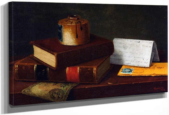 Still Life With Letter To Mr. William Taggart, Esq. By William Michael Harnett