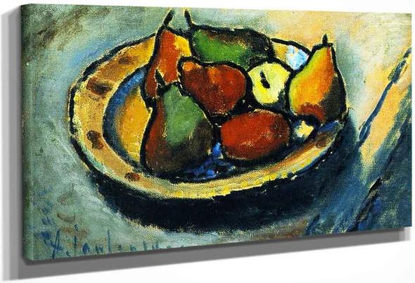 Still Life With Pears By Alexei Jawlensky By Alexei Jawlensky
