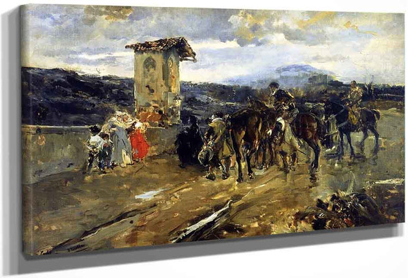 Stopping Along The Way, Scene From Don Quixote By Joaquin Sorolla Y Bastida