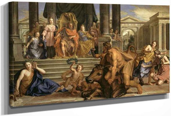 Story Of Hercules Fight Between Hercules And Achelous By Noel Coypel I