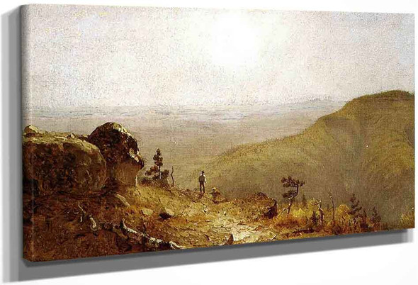Study For The View From South Mountain, In The Catskills By Sanford Robinson Gifford