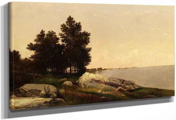 Study On Long Island Sound At Darien, Connectucut By John Frederick Kensett By John Frederick Kensett